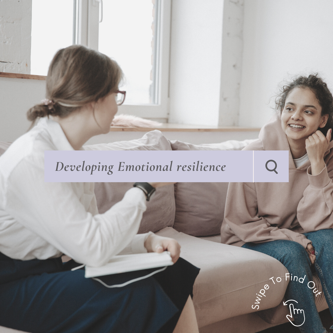 Counselling session with two women. Developing emotional resilience